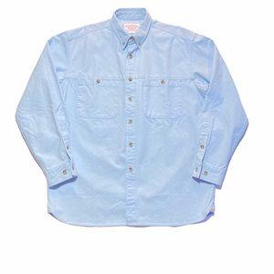 FILSON Blue Heavy Cotton Long Sleeve Shirt